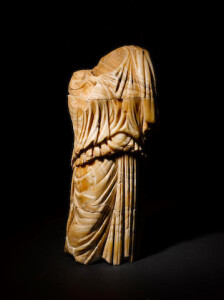 1st century Roman alabaster draped female torso